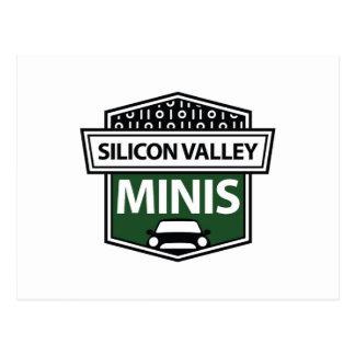Silicon Valley Minis - green logo postcard