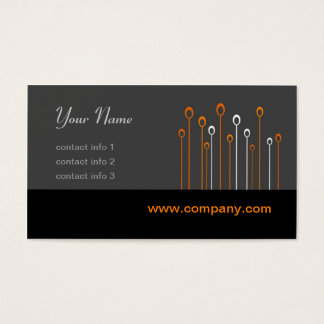 Silicon Valley Series - Black and Orange Business Card