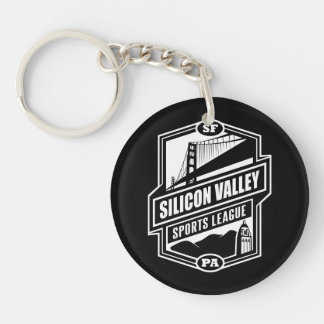 Silicon Valley Sports League Double-Sided Round Acrylic Keychain