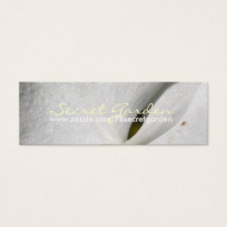 Silk (2)- White Orchids - Business Cards