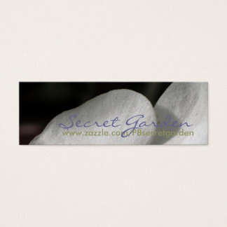 Silk 3 White Orchids  Floral Photography Mini Business Card