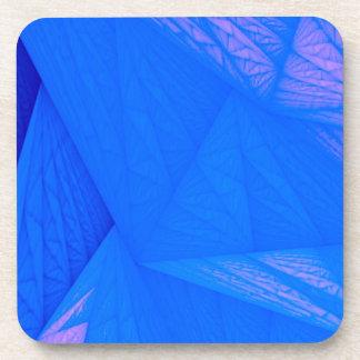 silk blue beverage coasters