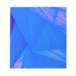 silk blue notepad