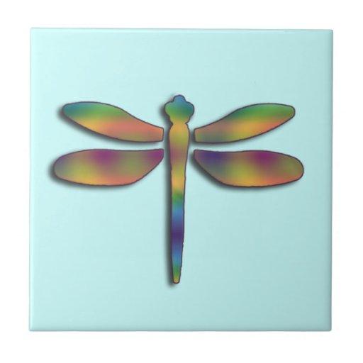 Silk Colors Dragonfly Ceramic Tile