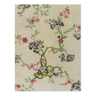 Silk design by Anna Maria Garthwaite, 1740 Postcard