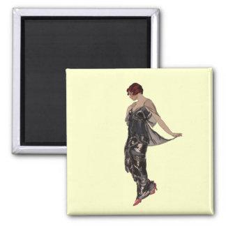 Silk Evening dress 1914 2 Inch Square Magnet