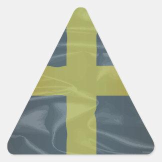 Silk Flag of Saint David Of Wales Triangle Sticker