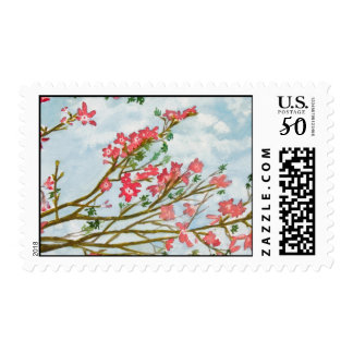 Silk floss tree flowers postage
