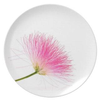 Silk flower dinner plate