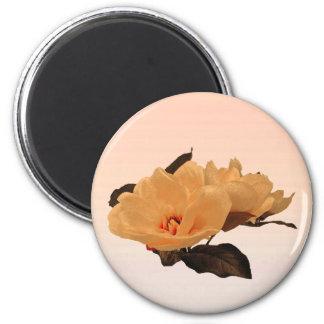 Silk Flowers 2 Inch Round Magnet
