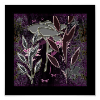 """Silk Flowers and Purple Lace""* Print"