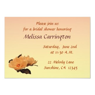 Silk Flowers Bridal Shower 5x7 Paper Invitation Card