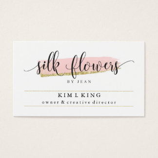 Silk Flowers by Jean Custom Cards