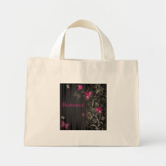 Silk Flowers Mini Tote Bag