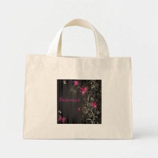 Silk Flowers Mini Tote Bag