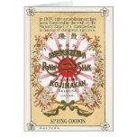 Silk Flowers Vintage Japanese Silk Label Cards