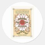 Silk Flowers Vintage Japanese Silk Label Stickers