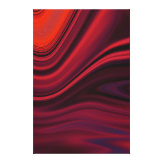Silk Folds - Orange Red and Wine Canvas Art