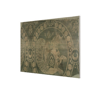 Silk fragment showing the 'Senmurv' Canvas Print