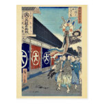Silk goods Lane, Odenma cho by Ando, Hiroshige Postcards