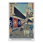 Silk goods Lane, Odenma cho by Ando, Hiroshige Posters