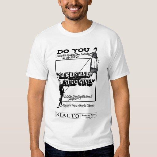 """Silk Husbands"" 1920 vintage movie ad T-shirt"