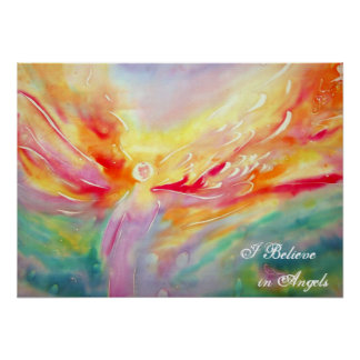 Silk I Believe in Angels Poster Art Painting