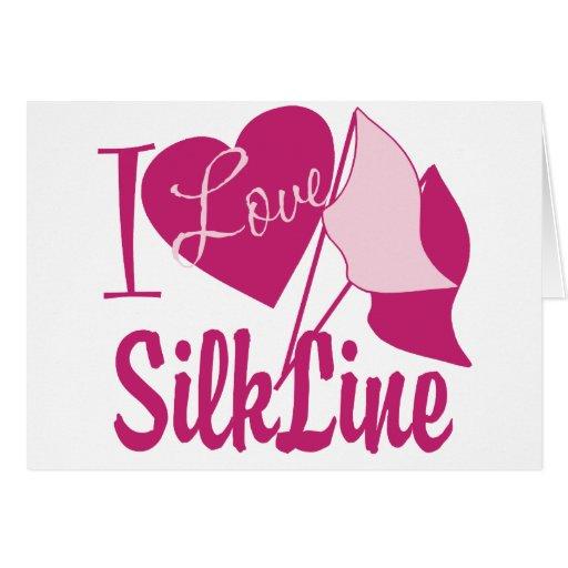 Silk Line Greeting Card