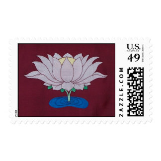 Silk Lotus by Leslie Rinchen-Wongmo Stamp