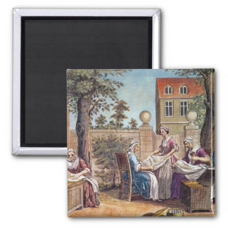 Silk-Making, engraved by J. Hinton Magnet