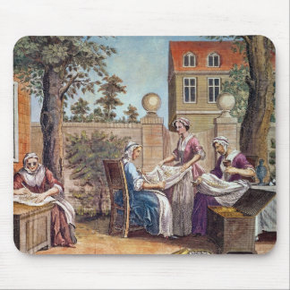 Silk-Making, engraved by J. Hinton Mouse Pad