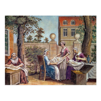 Silk-Making, engraved by J. Hinton Postcard