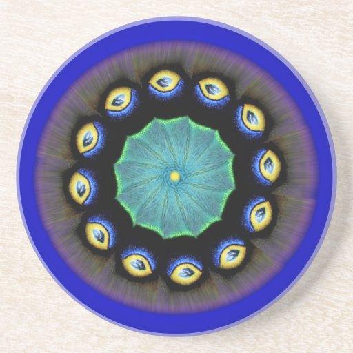 Silk Moth Mandala Coaster