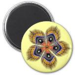 Silk Moth Wing Mandala Magnet