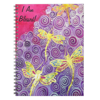 Silk Painted Dragonfly Gratitude Journal