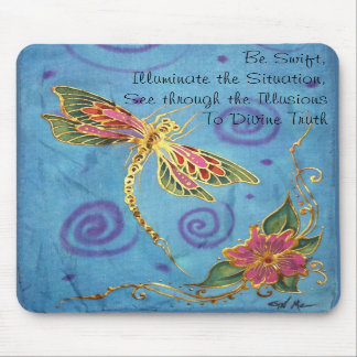 Silk Painted Dragonfly Mousepad