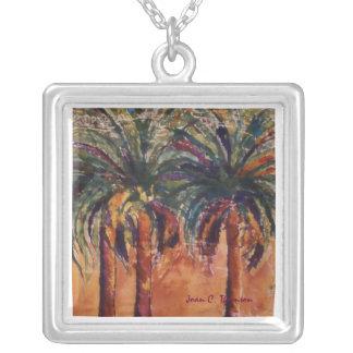 Silk Palms Necklace