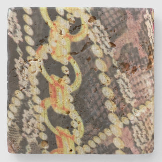 Silk, Pearls and Chains Print Stone Coaster