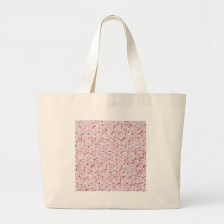 Silk pink rose wallpaper canvas bag