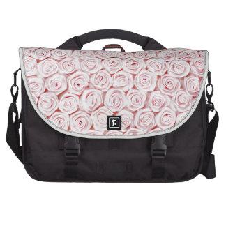 Silk pink rose wallpaper computer bag
