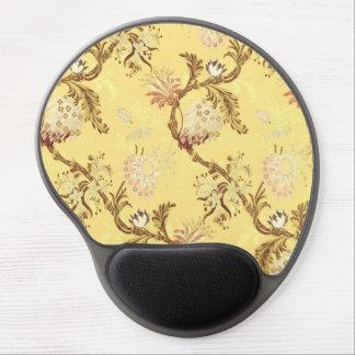 Silk print gold girly elegant chic asian style fun gel mouse pad