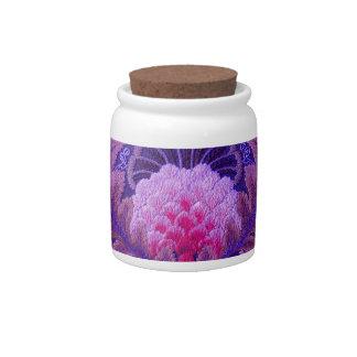 Silk Purple Boho Candy Jars