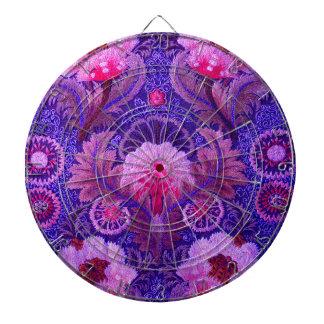 Silk Purple Boho Dart Board