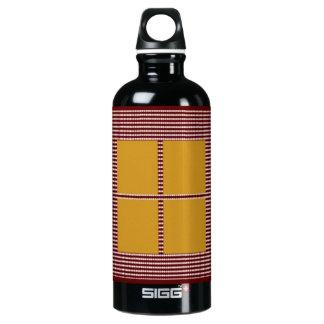 Silk Satin Square Theme -  Artistic Color Pallets Aluminum Water Bottle