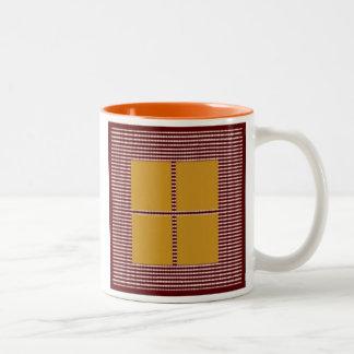 Silk Satin Square Theme -  Artistic Color Pallets Two-Tone Coffee Mug