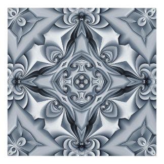 Silk Silver-Blue Cross Panel Panel Wall Art