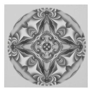 Silk Silver Glow Panel