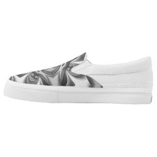 Silk Silver Glow Slip-ons Printed Shoes