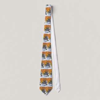 Silk Tie: The Burning Bush by Clarence Tie