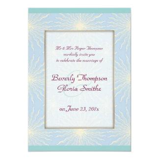 Silk Tones Blue WEDDING Card